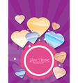 Colorful Love Hearts Background vector image vector image