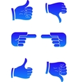 pointers hands vector image vector image