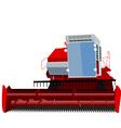 combine harvester vector image vector image