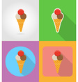 fast food flat icons 08 vector image vector image