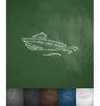 boat icon Hand drawn vector image