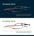 company logo icon element template car vector image
