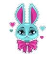 Cute cartoon bunny girl face vector image