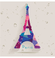 Eiffel tower made of triangles vector image