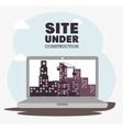 laptop site under construction icon vector image