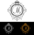 Letter M Luxury Logo template flourishes vector image