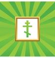 Orthodox cross picture icon vector image