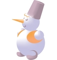 Snowman color 02 vector image
