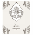Vintage Card Damask Baroque pattern vector image
