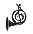 music horn icon vector image vector image
