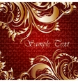 Retro card with golden leaves and place for text vector image vector image