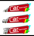 car banner vector image