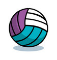 volleyball sport ball isolated icon vector image