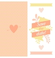 Wedding invitation card with pretty stylized vector image vector image