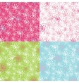 Outline Cherry Flowers backgroundSpring Seamless vector image