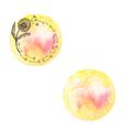 Watercolor hand drawn romantic set labels in vector image
