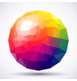 Abstract low-poly sphere vector image vector image