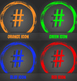 hash tag icon Fashionable modern style In the vector image