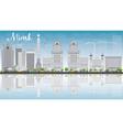 Minsk skyline with grey buildings vector image