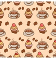 coffeeart seamless pattern vector image vector image
