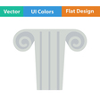Icon of antique column vector image vector image