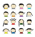 People icons for your design vector image vector image