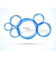Background with blue circles vector image