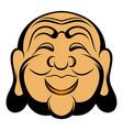 buddha head icon cartoon vector image