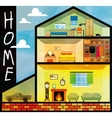 Cartoon family house vector image