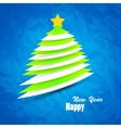 Christmas tree background minimal and trendy vector image