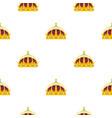 Crown pattern flat vector image
