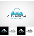Dental logo template Teethcare icon set dentist vector image