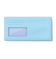 DL light blue envelope with window for address vector image