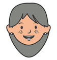 grandmother avatar character icon vector image