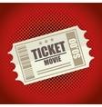 icon ticket movie design vector image
