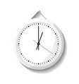 round office wall clock icon vector image