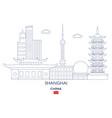 shanghai city skyline vector image