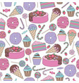 sweets seamless pattern for design vector image