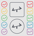 swing icon sign symbol on the Round and square vector image