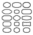 Black frames set Beautiful design vector image