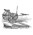 Reaper vintage engraving vector image vector image