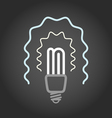 Lighting energy save lamp on dark background vector image