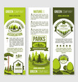 landscape gardening and eco park banner template vector image