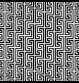 black and white classic meander seamless pattern vector image