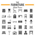 furniture solid icon set interior sign collection vector image