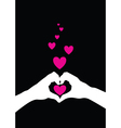 hands heart vector image