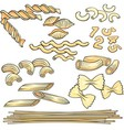 Vermicelli spaghetti pasta icons set vector image vector image