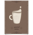 New year vintage latte coffee cup vector image