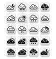 Cute Kawaii clouds with different expressions - ha vector image vector image
