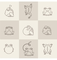 Frog characters flat vector image vector image